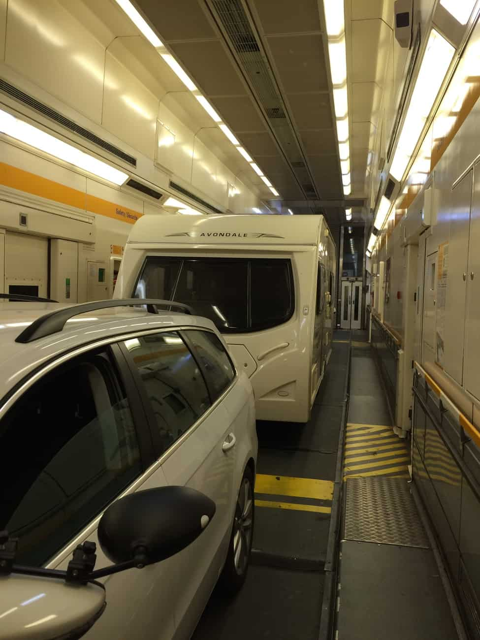 Eurotunnel - inside the tunnel
