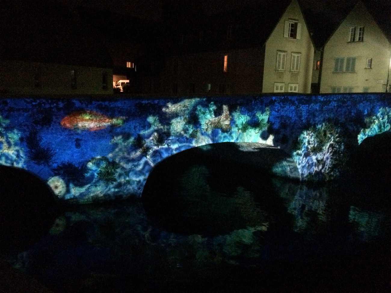 Chartres - lights on bridge