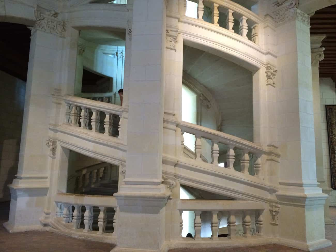 Loire - Chateau de Chambord staircase