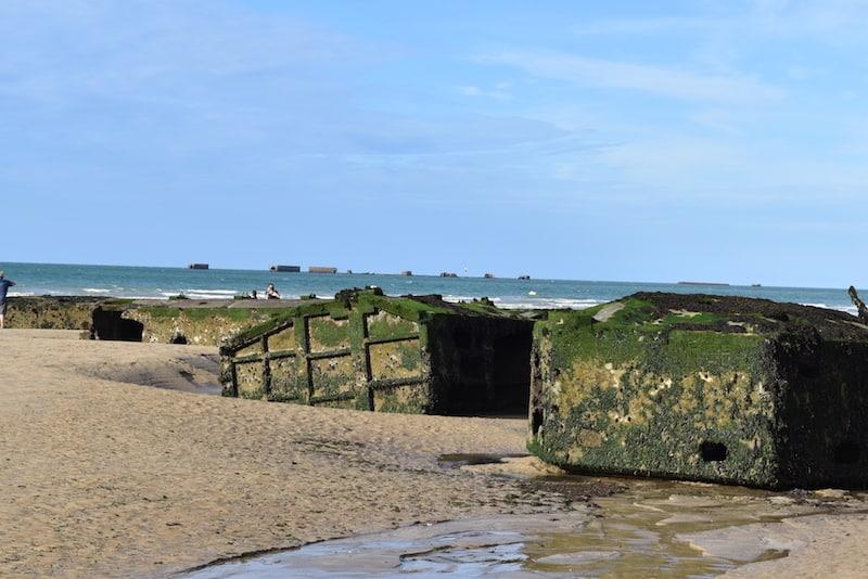 Normandy beaches - pontoon at Arromanches-Les-Bains