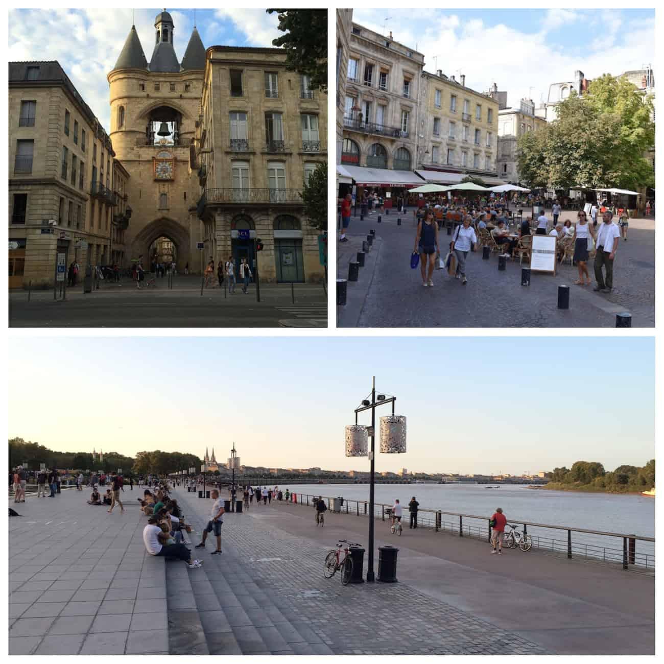 Bordeaux - medieval gate and esplanade