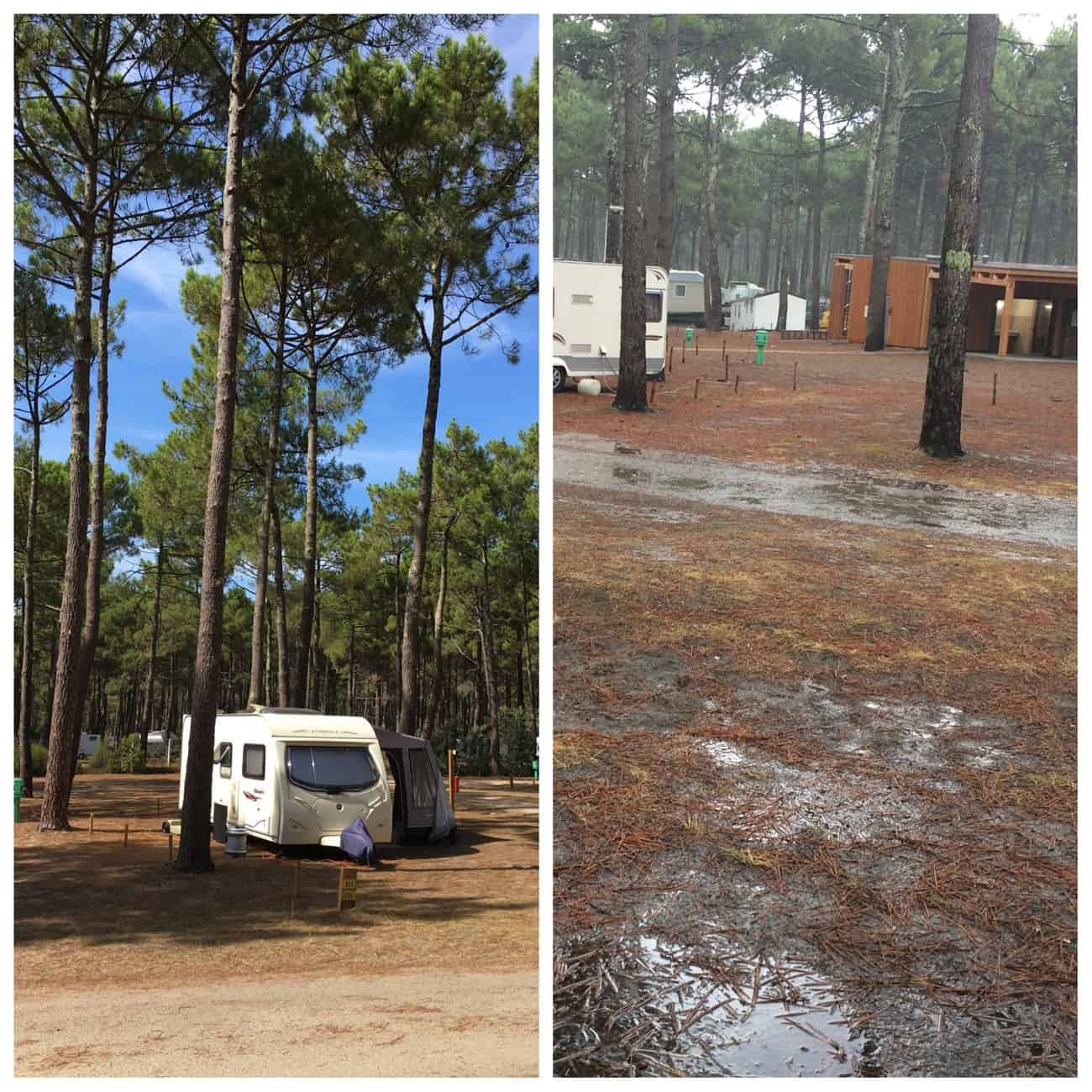Vivier Plage - camping in the forest