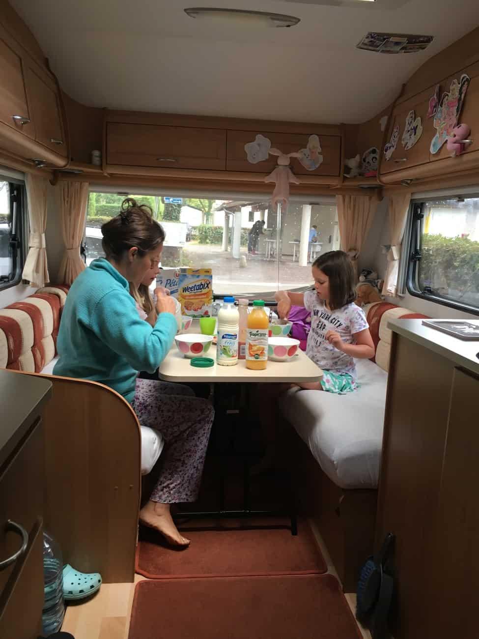 Caravan - eating inside