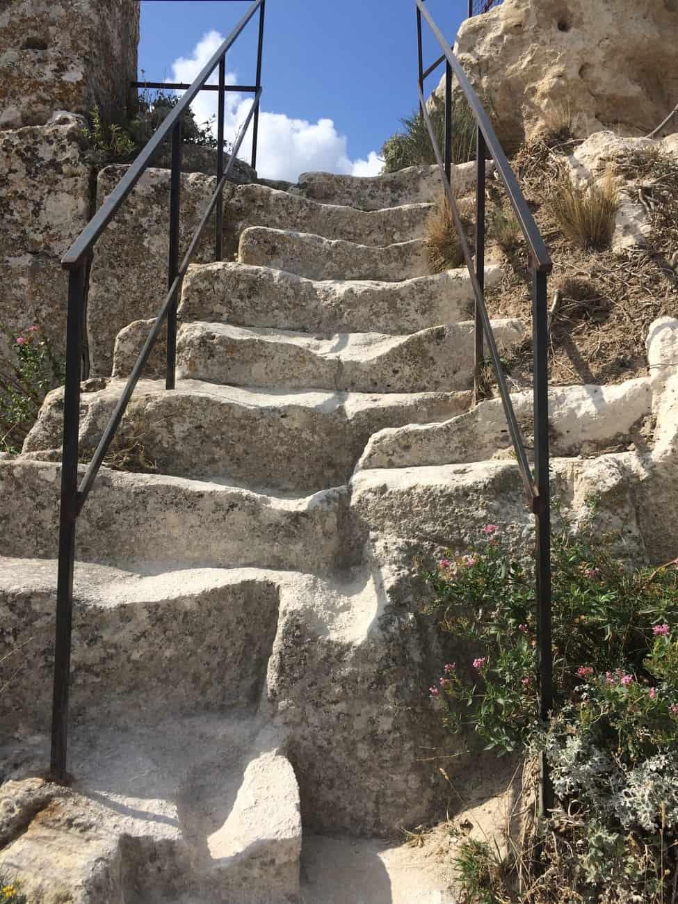 Les Baux - weathered steps