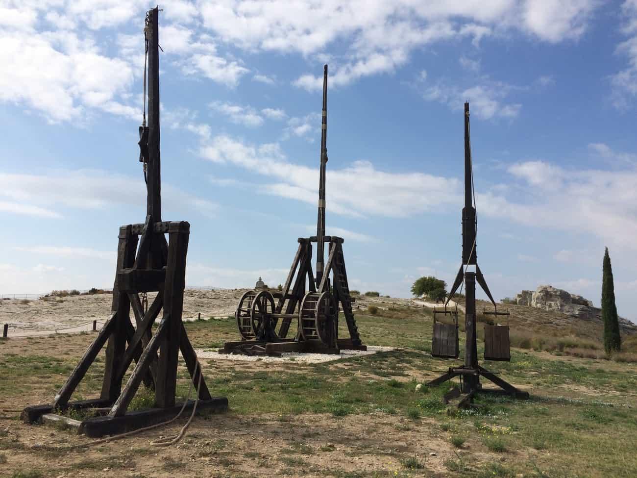 Les Baux - siege engines