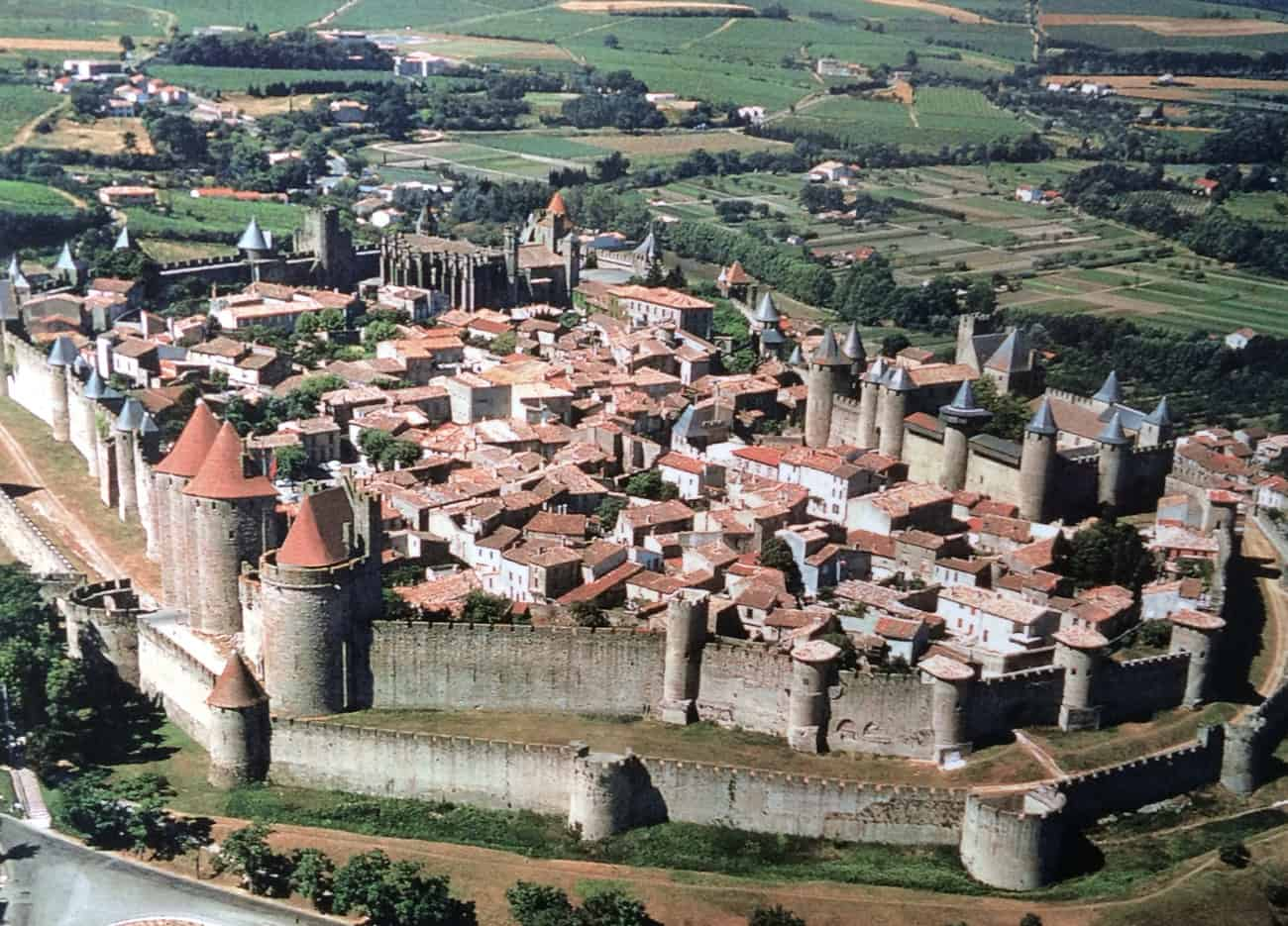 Carcassonne - aerial view