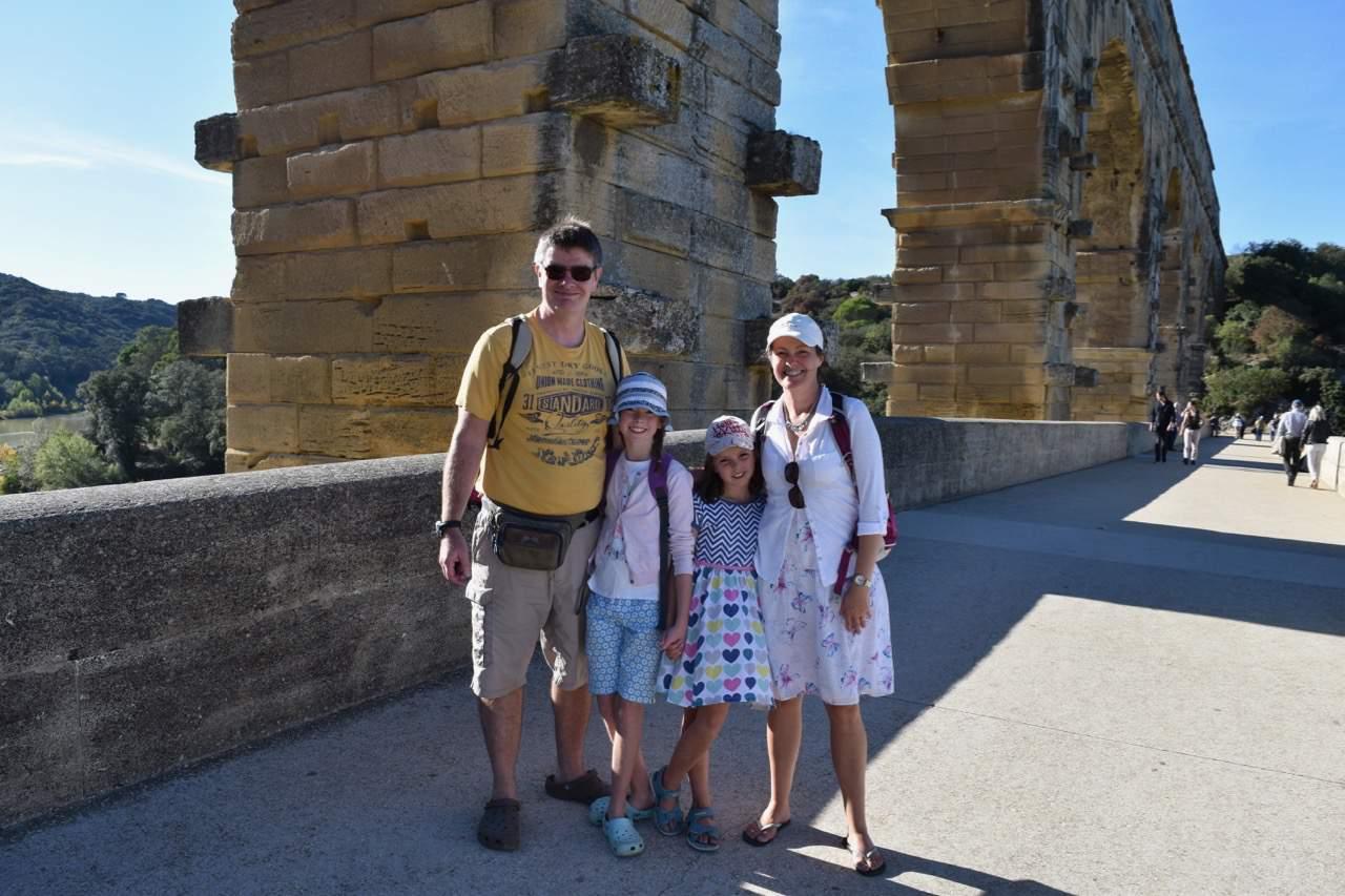 Pont du Gard - walking across