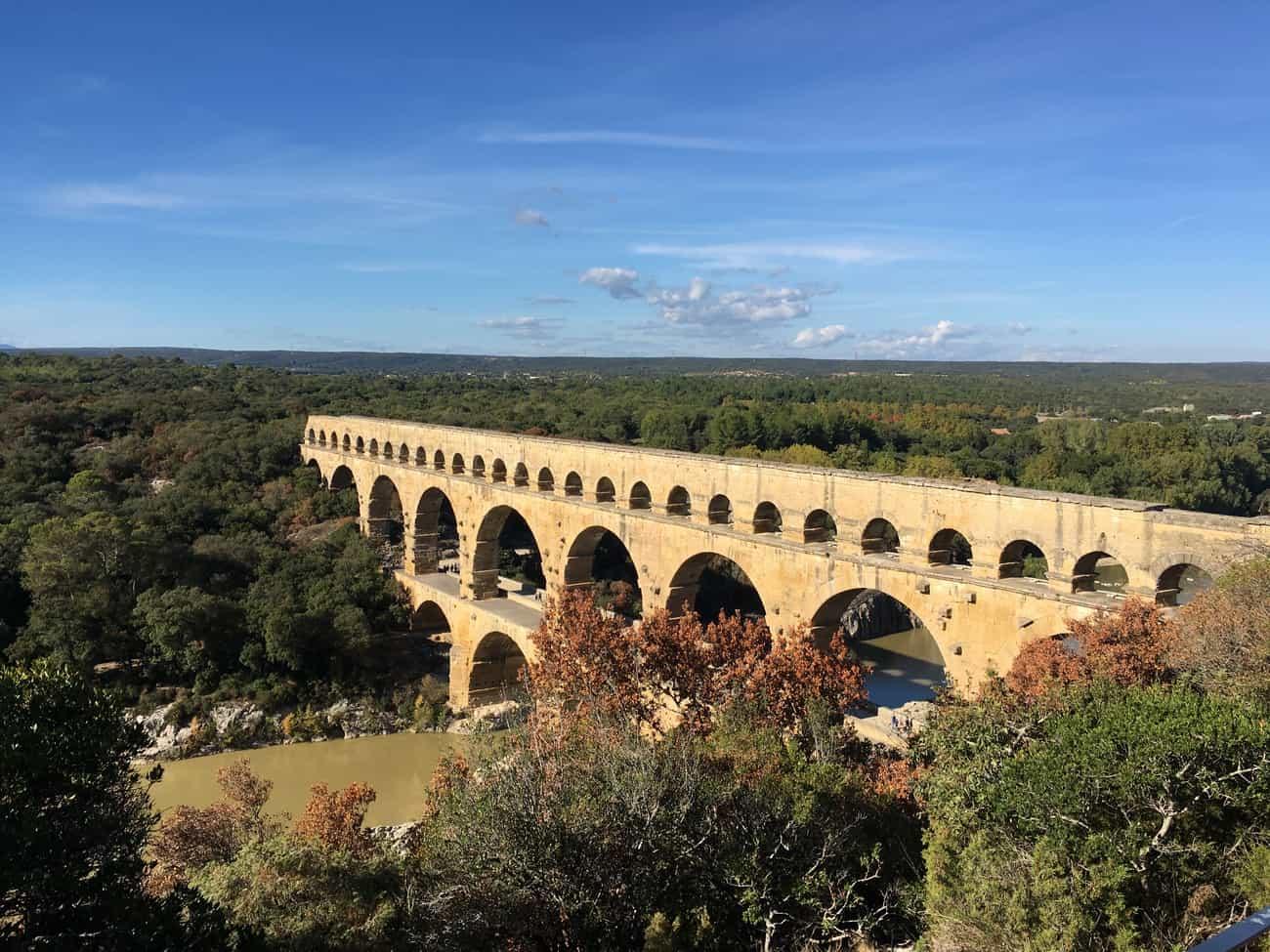 Pont du Gard - from above