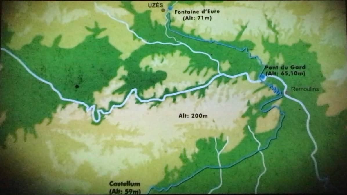 Pont du Gard - route of aqueduct