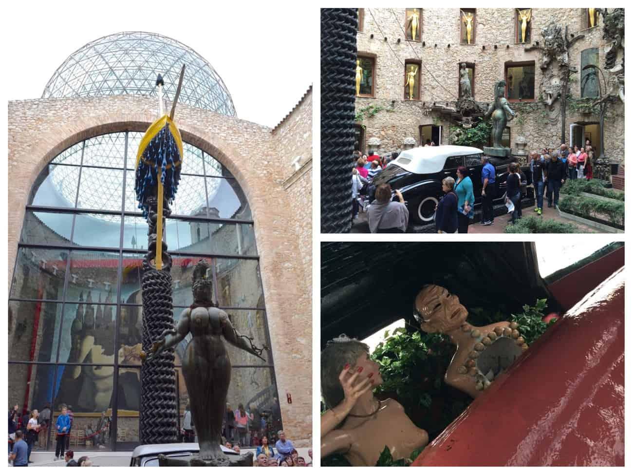 Dali Theatre Museum - atrium and Cadillac