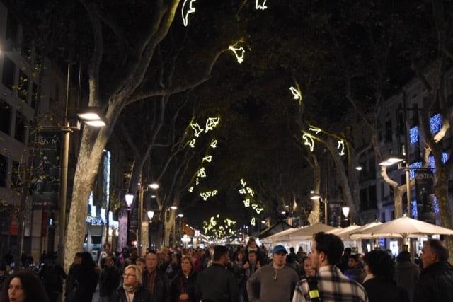 Barcelona Christmas - the Ramblas