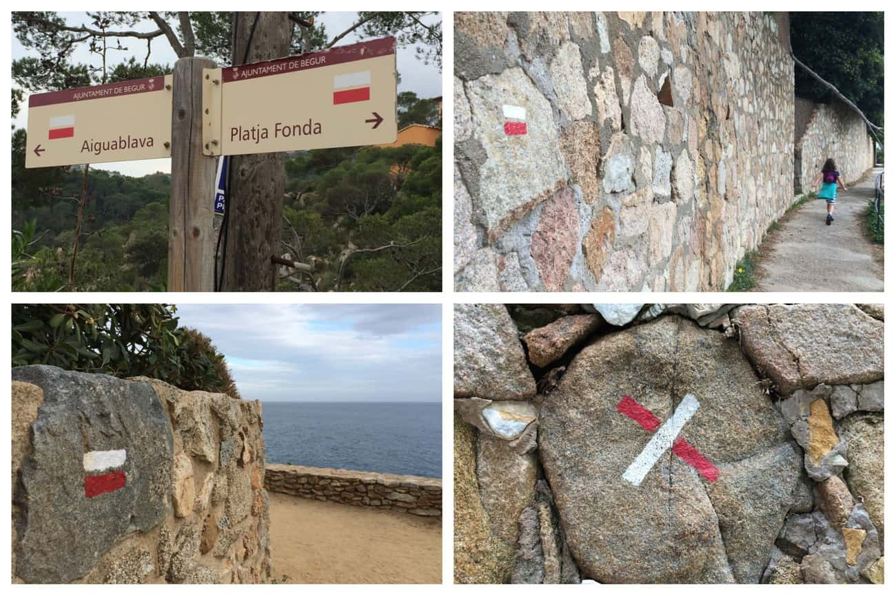 Cami de Ronda - route markings and signposts