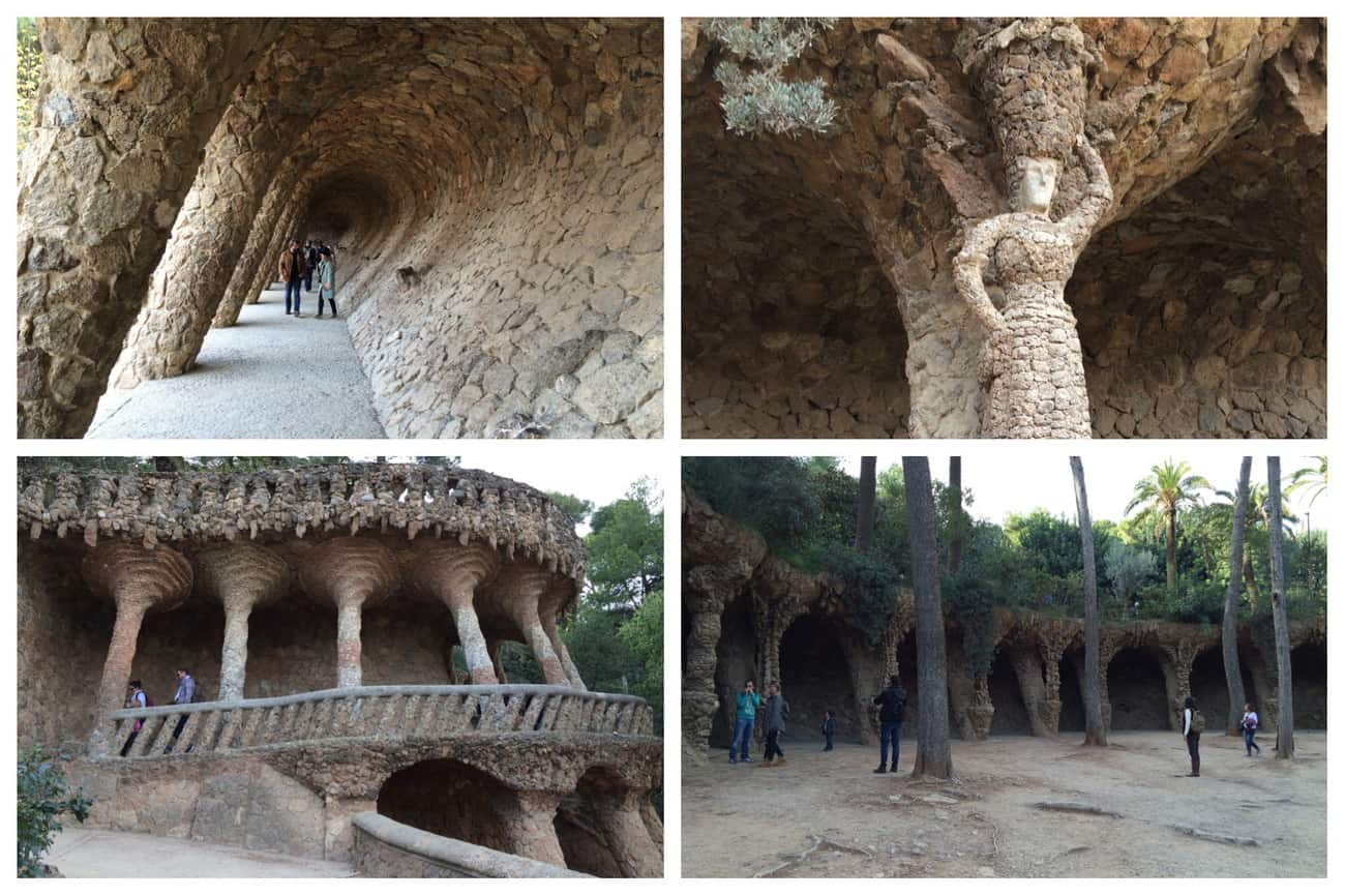 Barcelona - Park Guell Gaudi Portico of the Washerwoman
