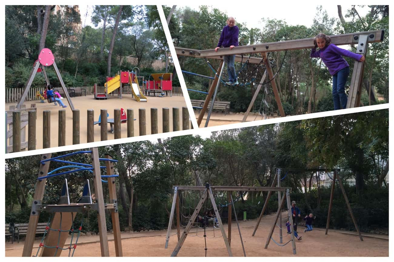 Barcelona - Park Guell Gaudi children's playground