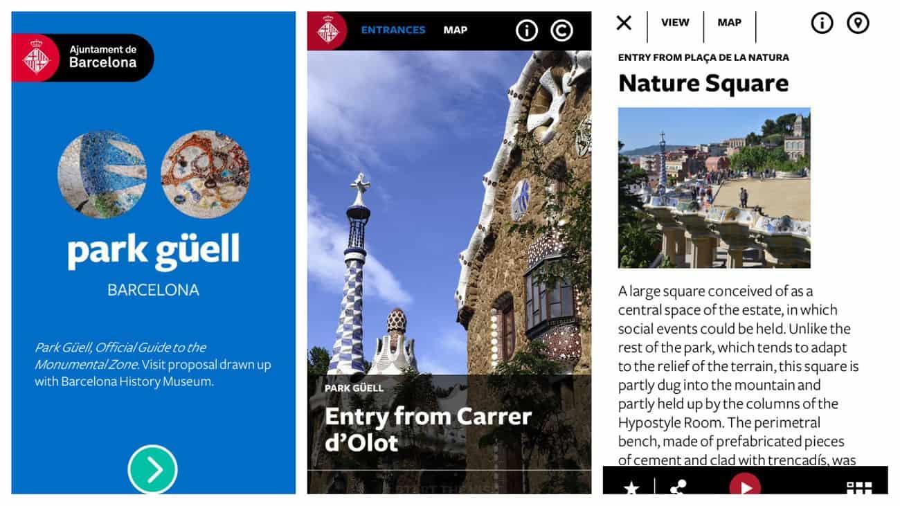 Barcelona - Park Guell Gaudi app