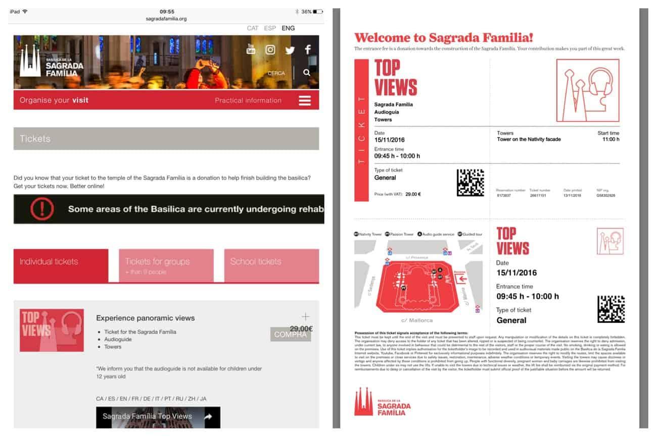 Barcelona - online ticket purchase