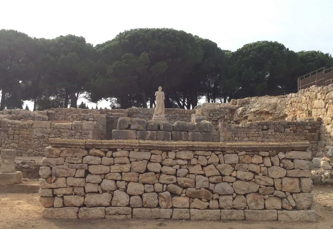 Empuries, Spain - the temple of Asklepois