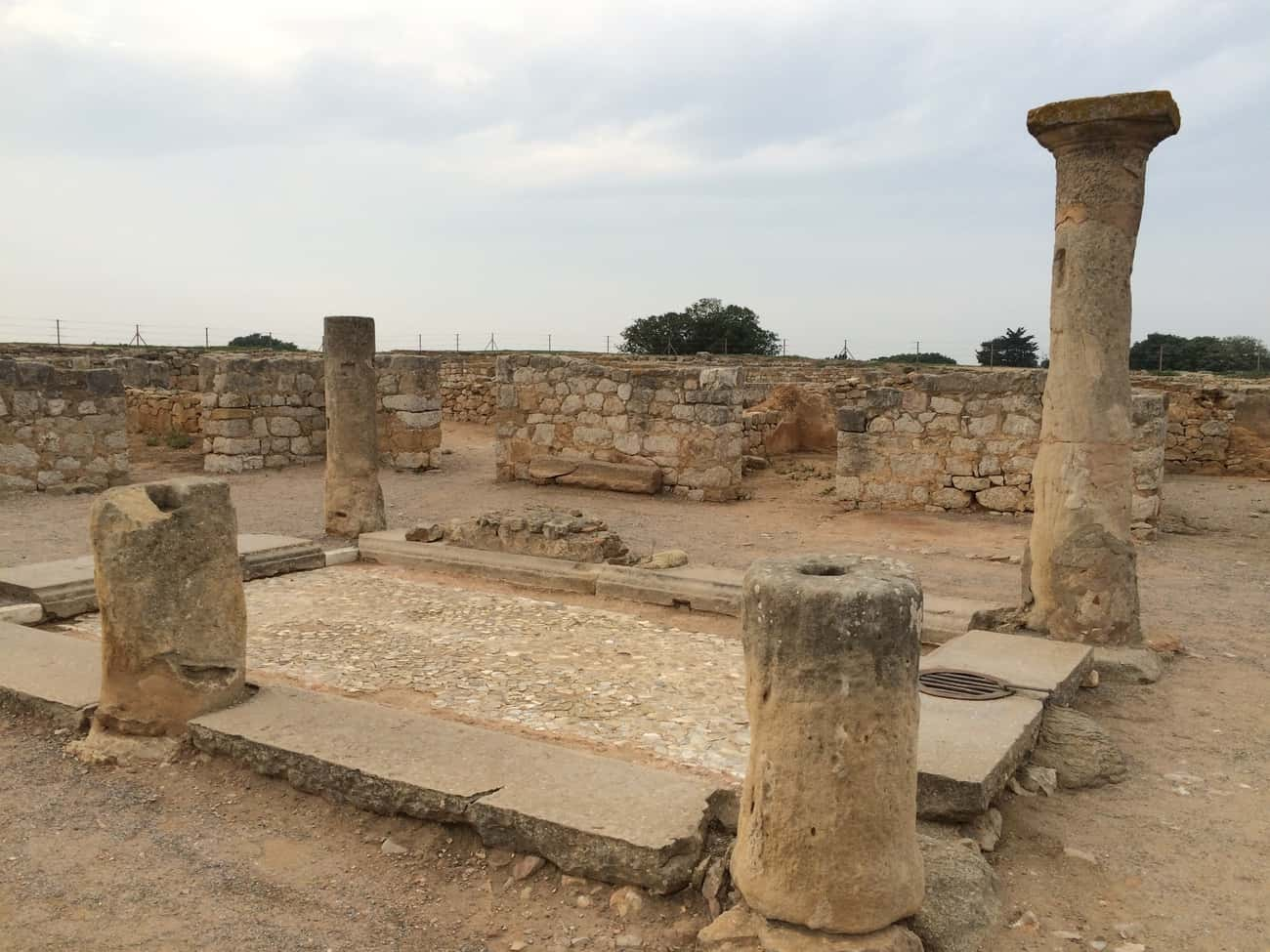 Empuries, Spain - part of courtyard of Roman house