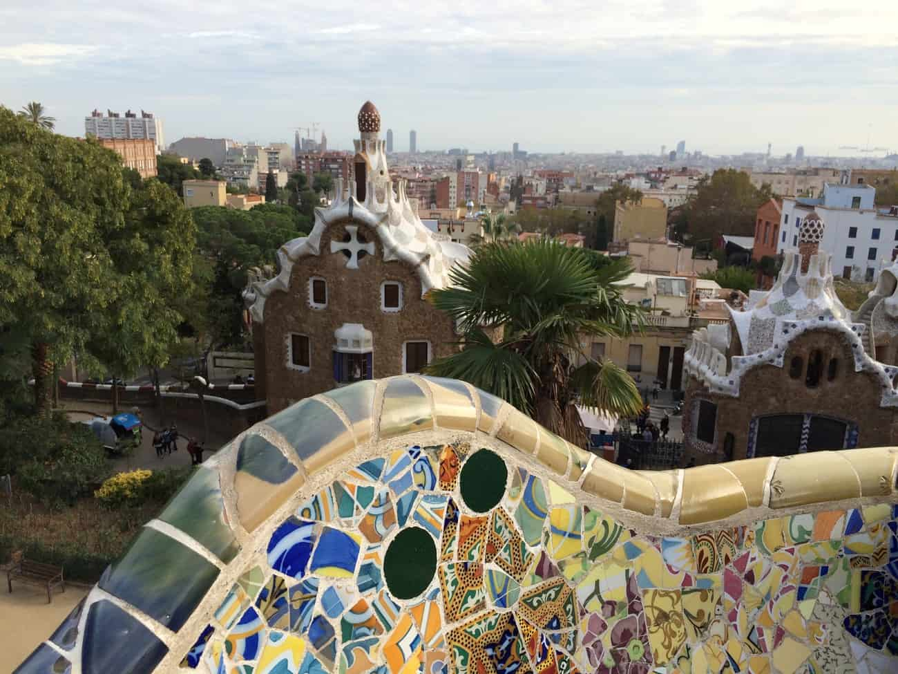 Barcelona - Park Guell Gaudi view from Nature Square