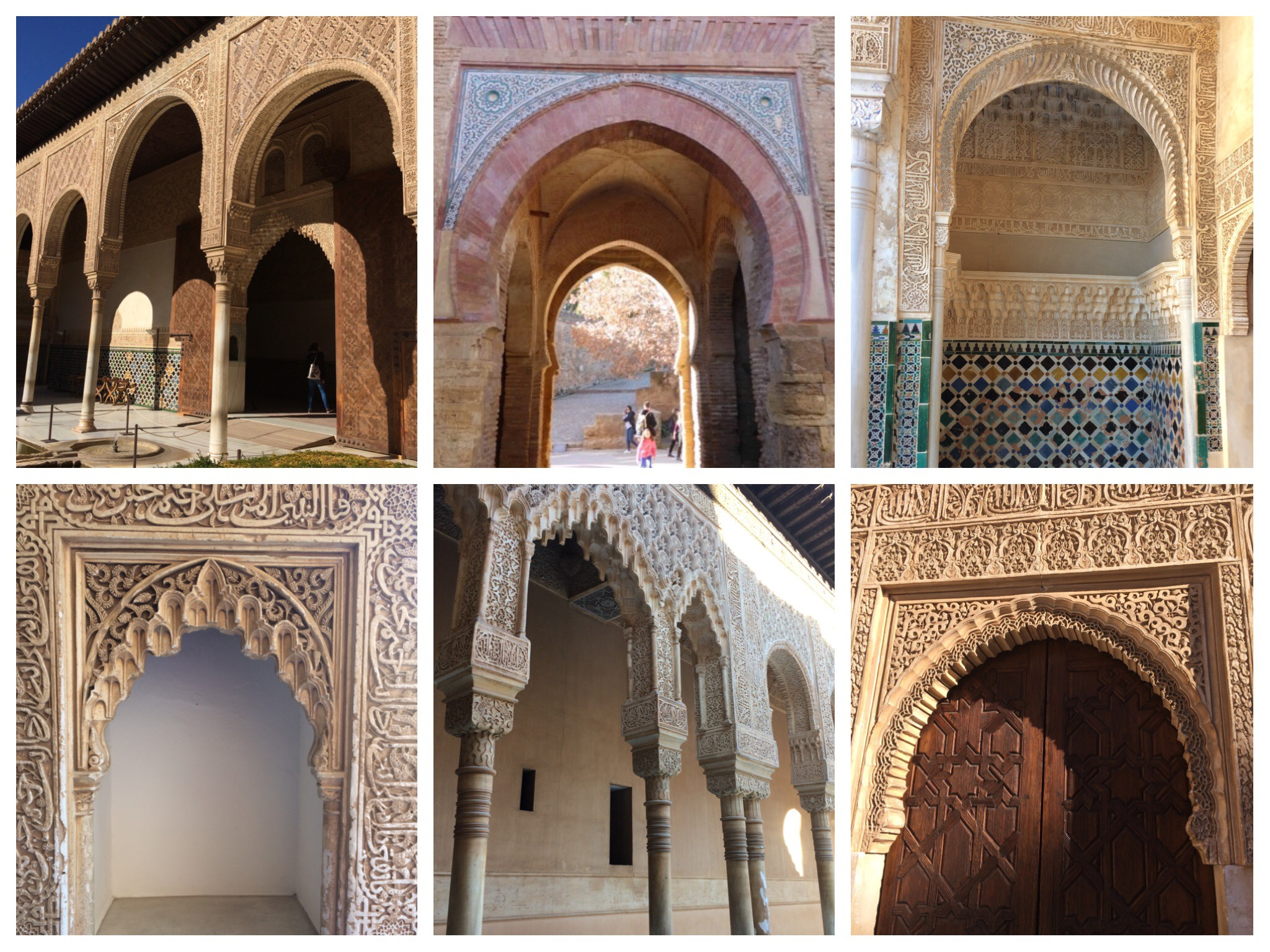 Alhambra Granada Spain - beautiful archways