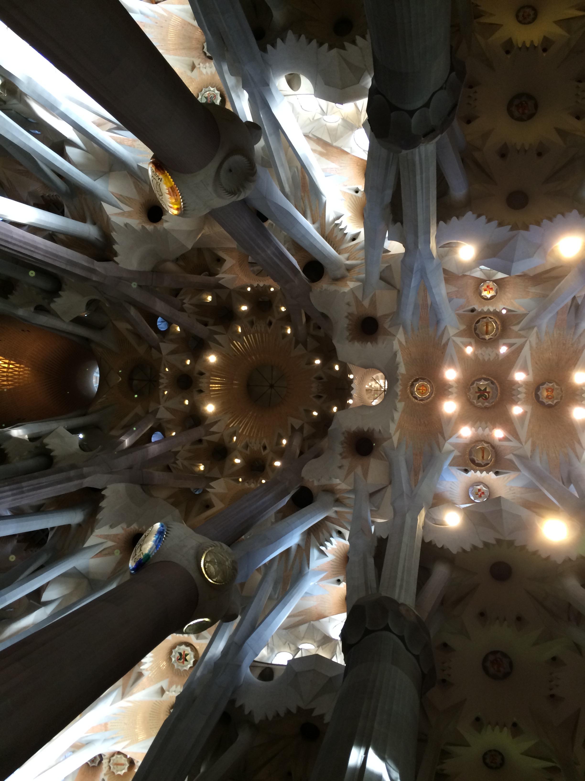 Barcelona - Sagrada Familia Canopy ceiling