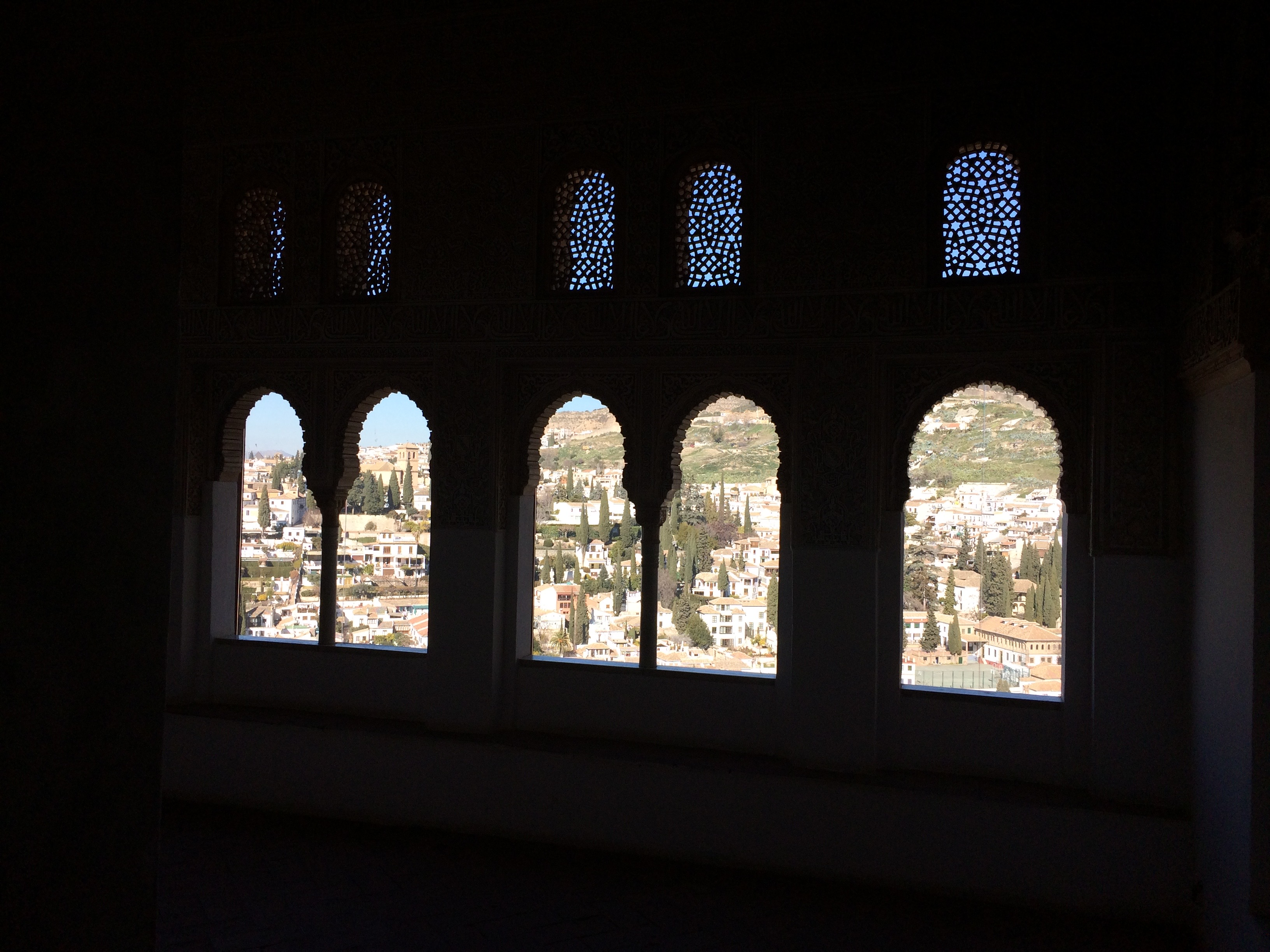 Alhambra Granada Spain - view out from Nasrid Palaces