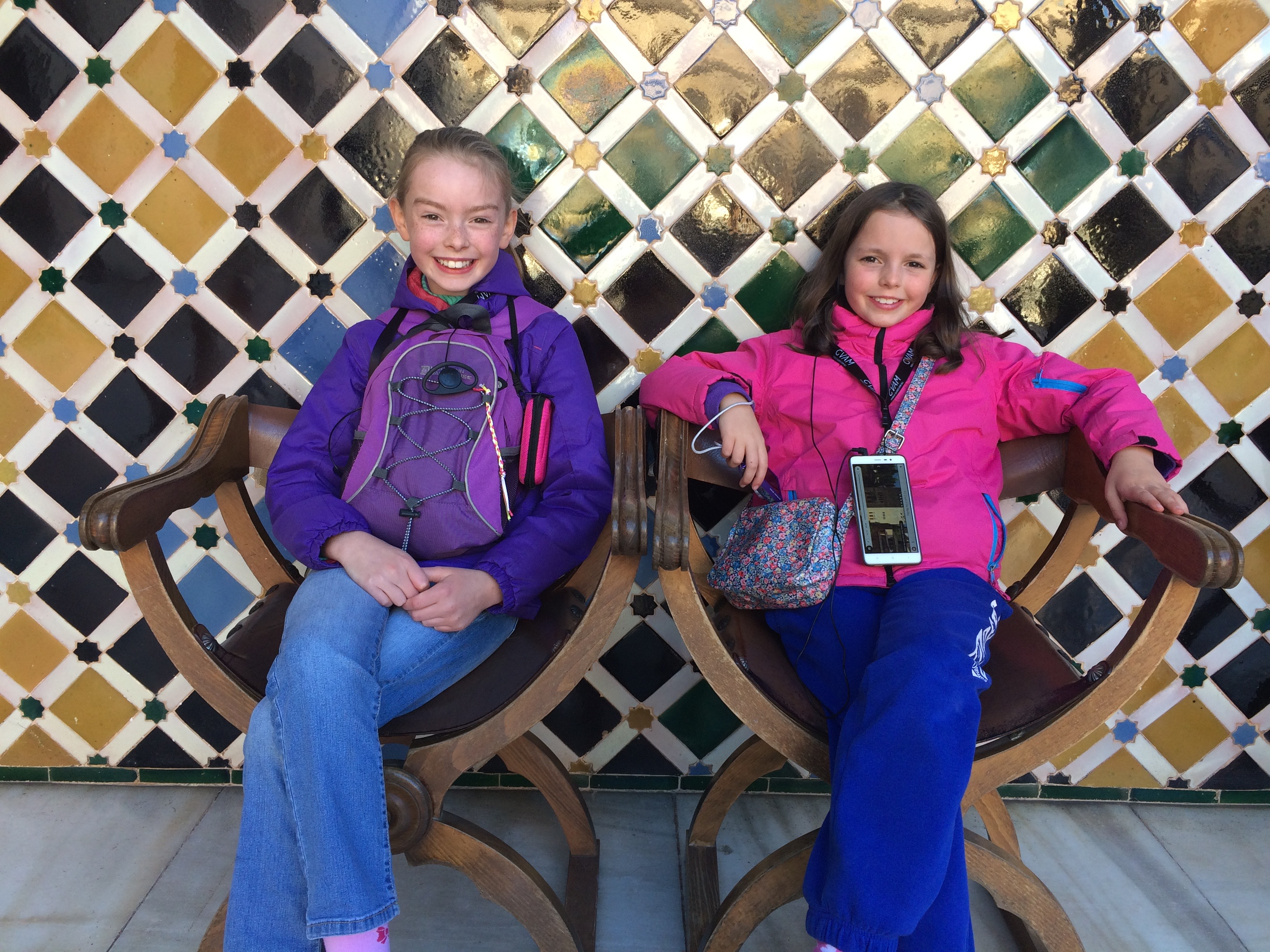 Alhambra Granada Spain - relaxing in the Court of the Myrtles