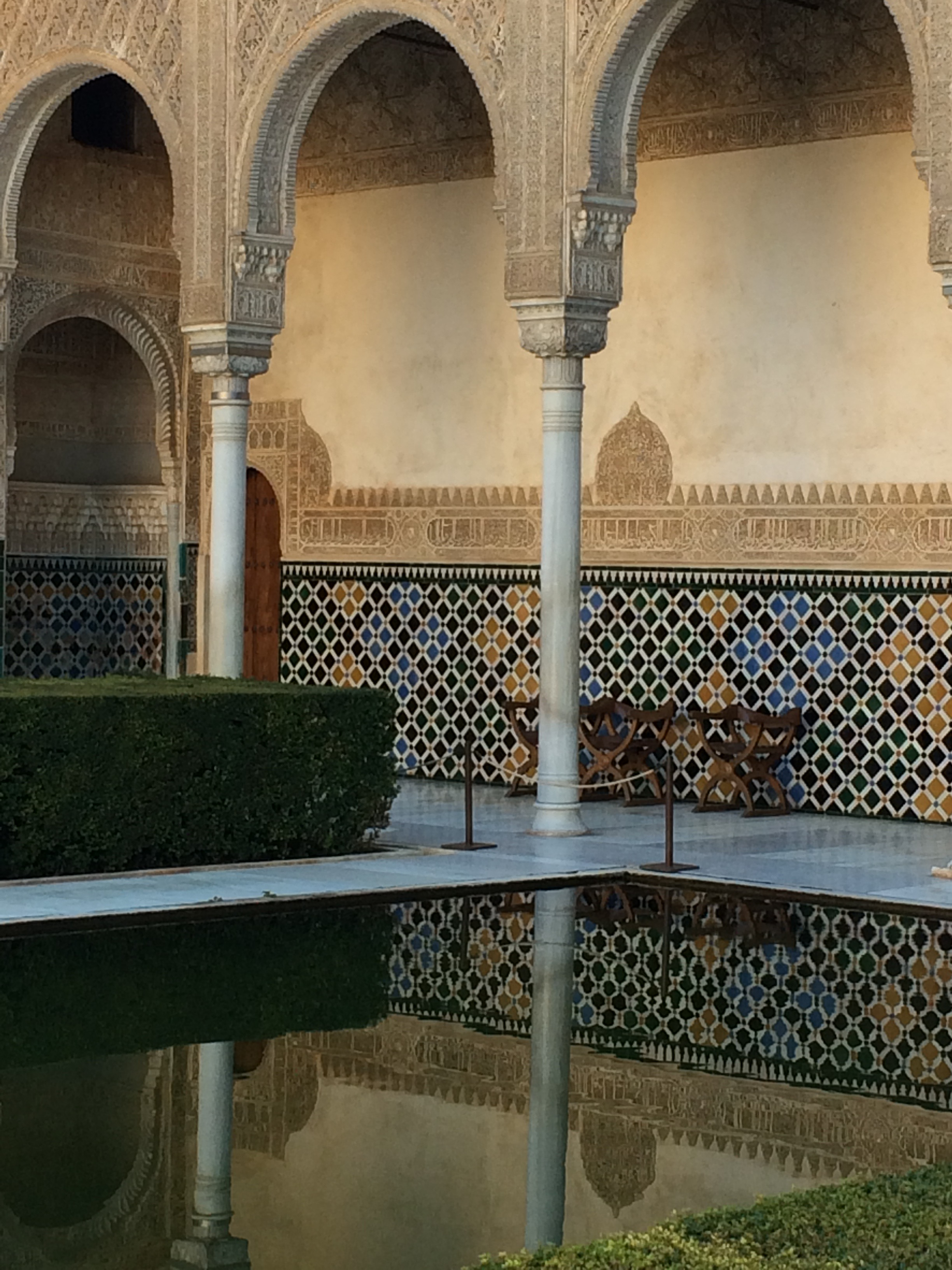Alhambra Granada Spain - Court of the Myrtles reflectoins