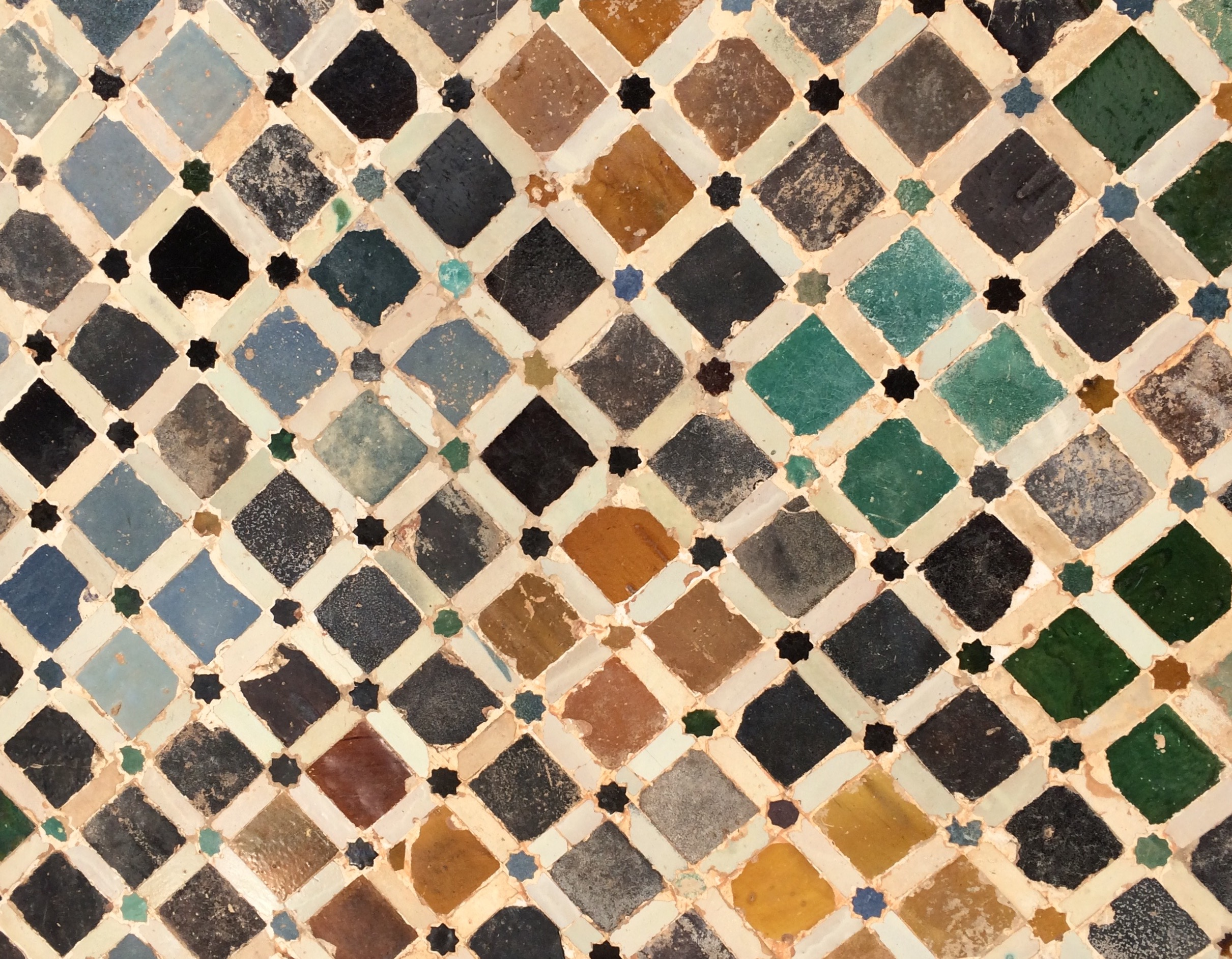 Alhambra Granada Spain - ceramic tiles