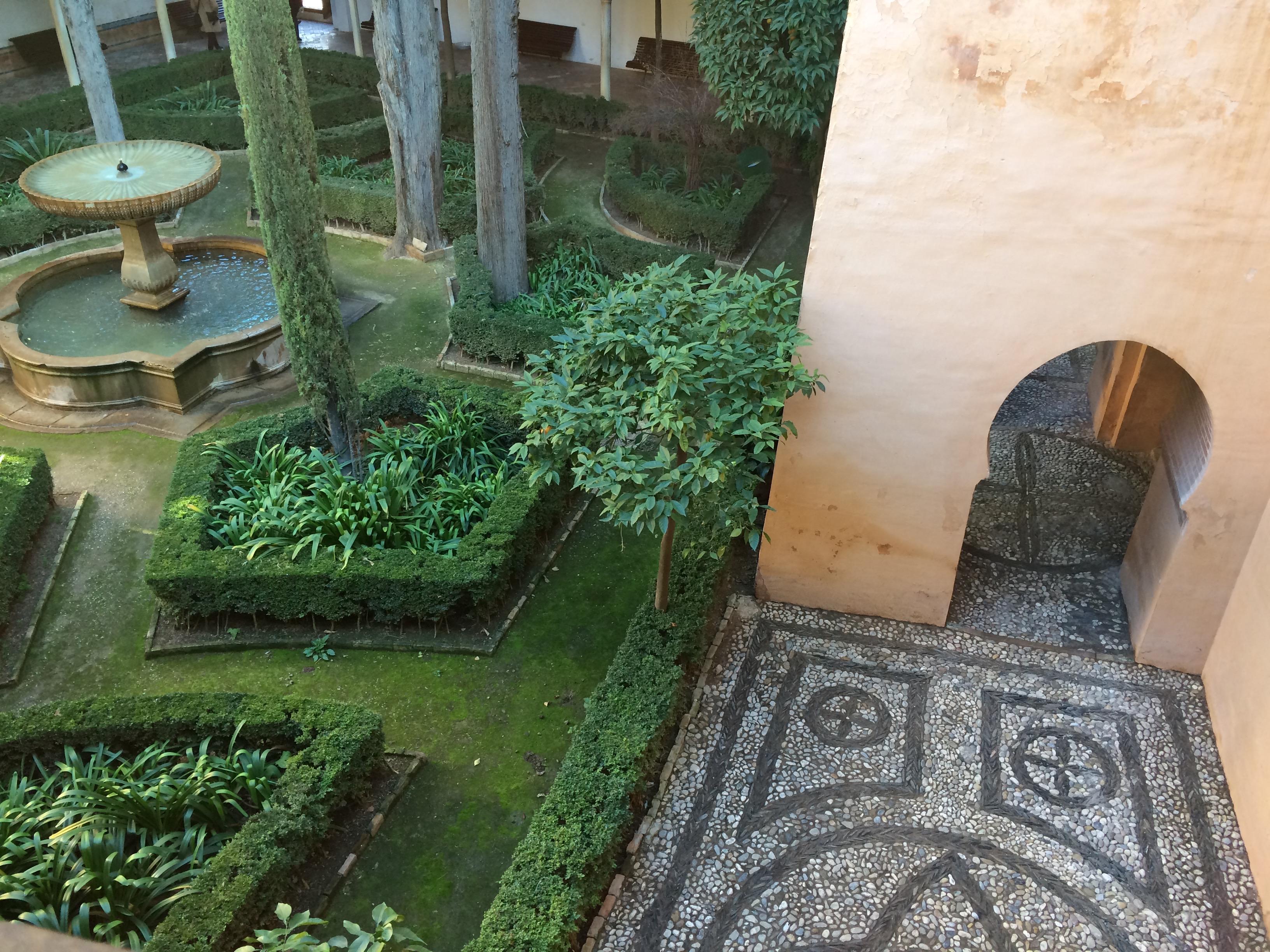 Alhambra Granada Spain - Nasrid Palaces garden