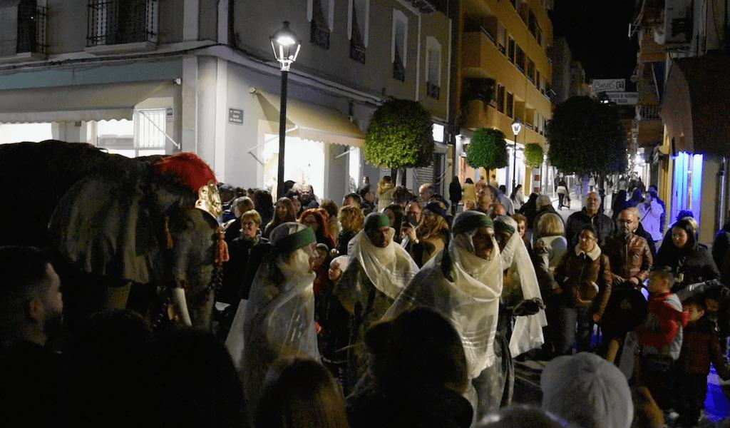 Three Kings parade - Vilajoysa Spain elephant