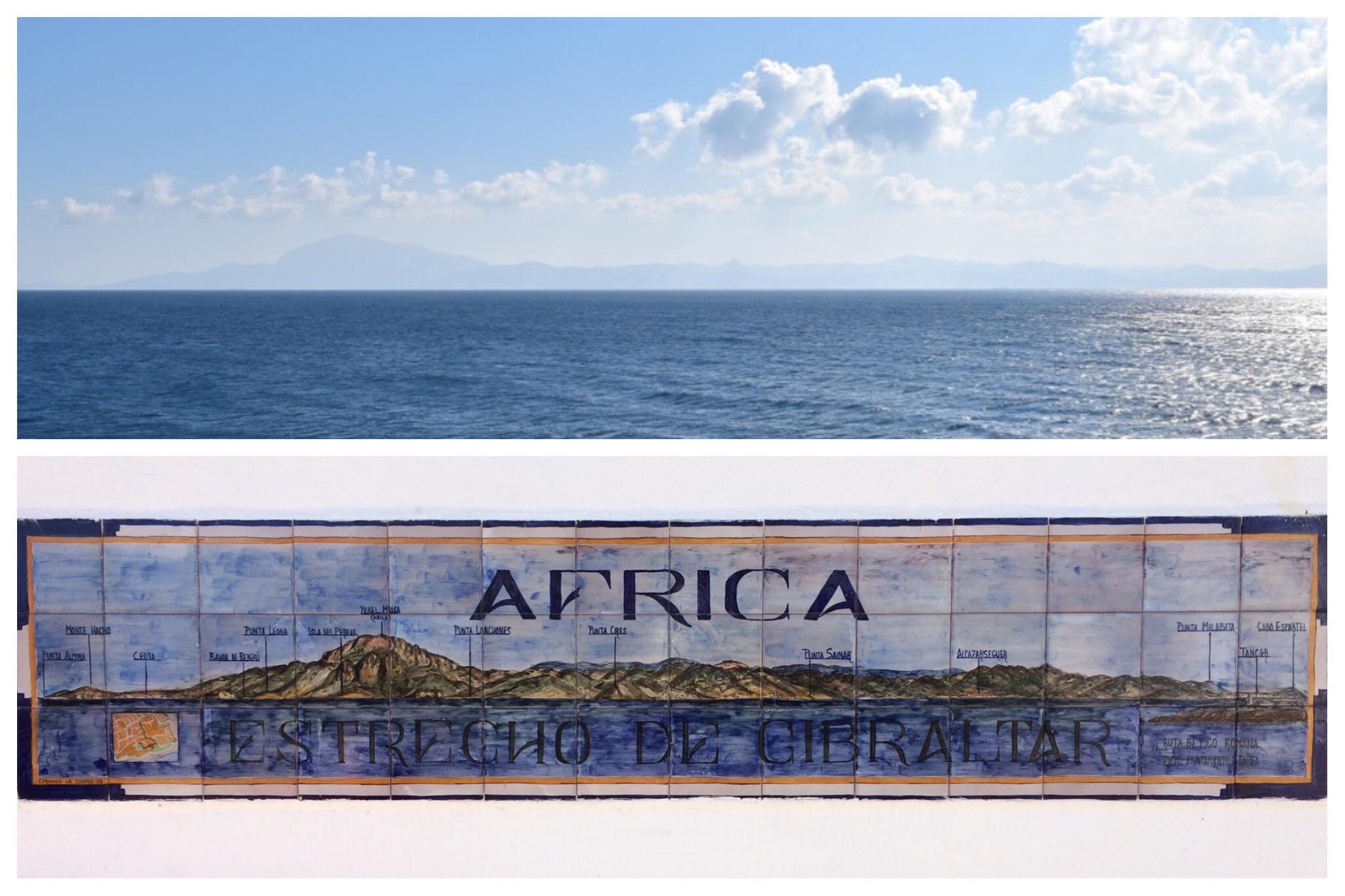 Tarifa - looking across to Africa