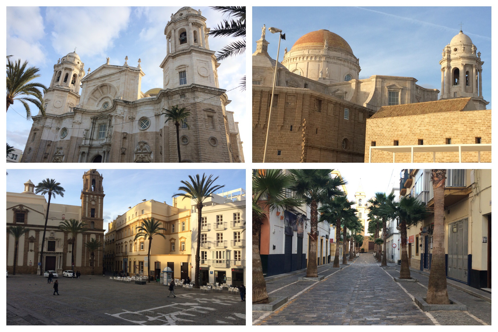 Cadiz - cathedral and typical streets in old town