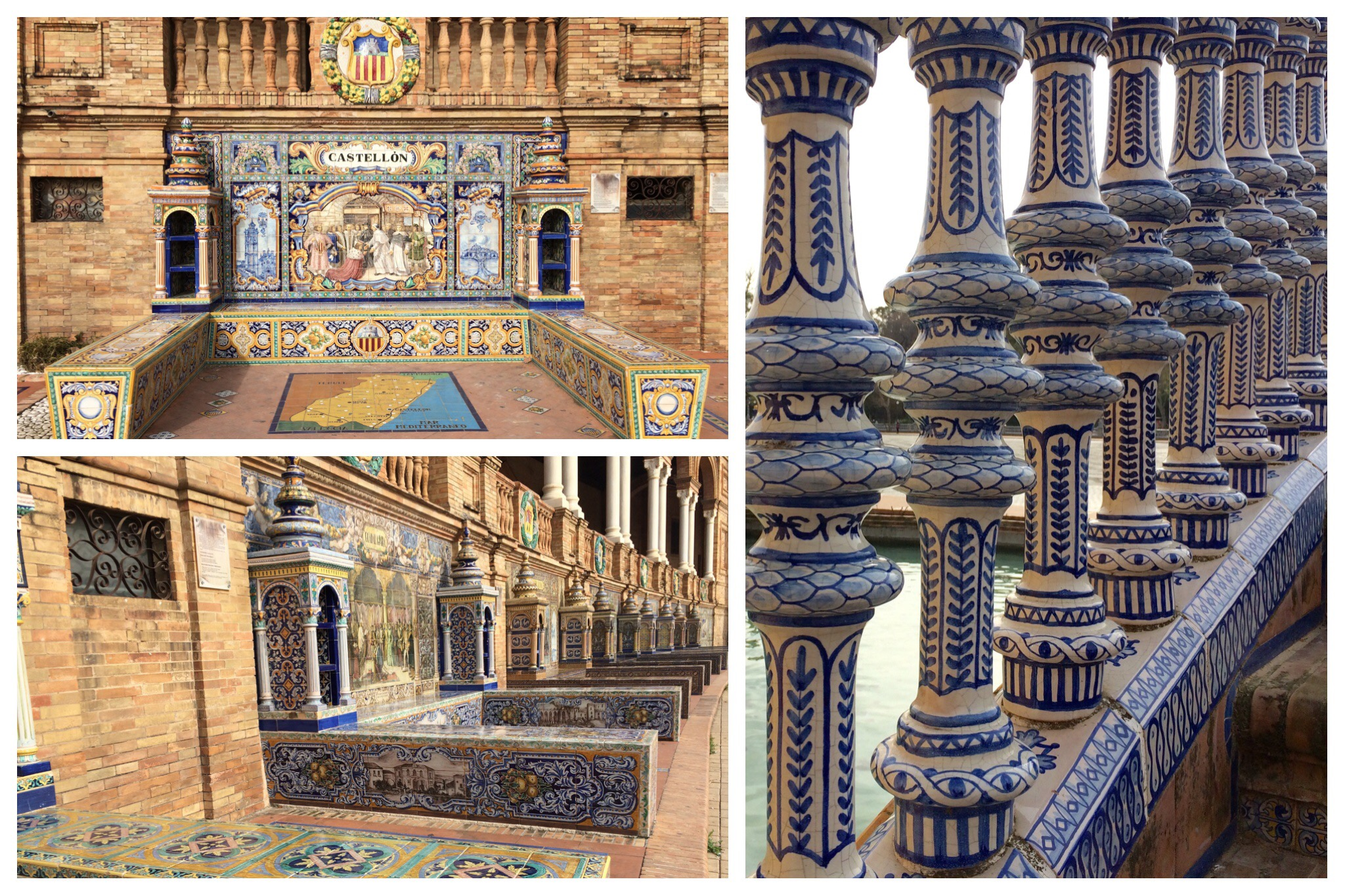 Seville - Plaza de España ceramics