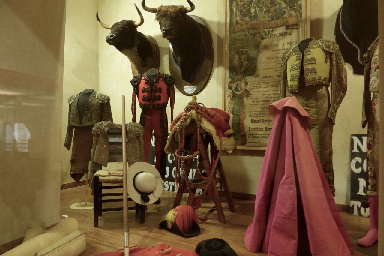 Ronda - bullring museum costumes