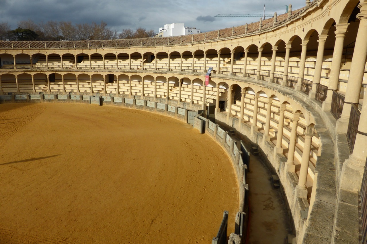 Ronda - bullring double tier of seating