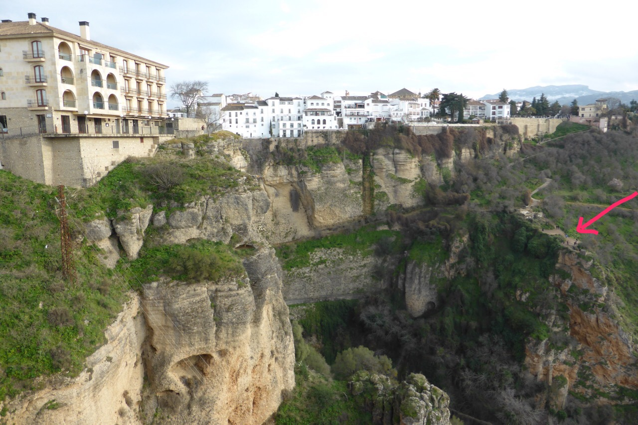 Ronda - looking down from the Puente Nuevo