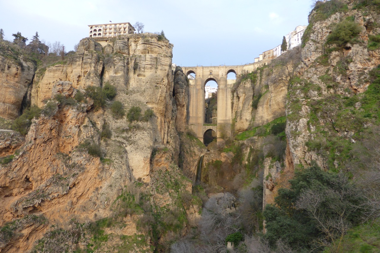 Ronda - Puente Nuevo from low down in the valley