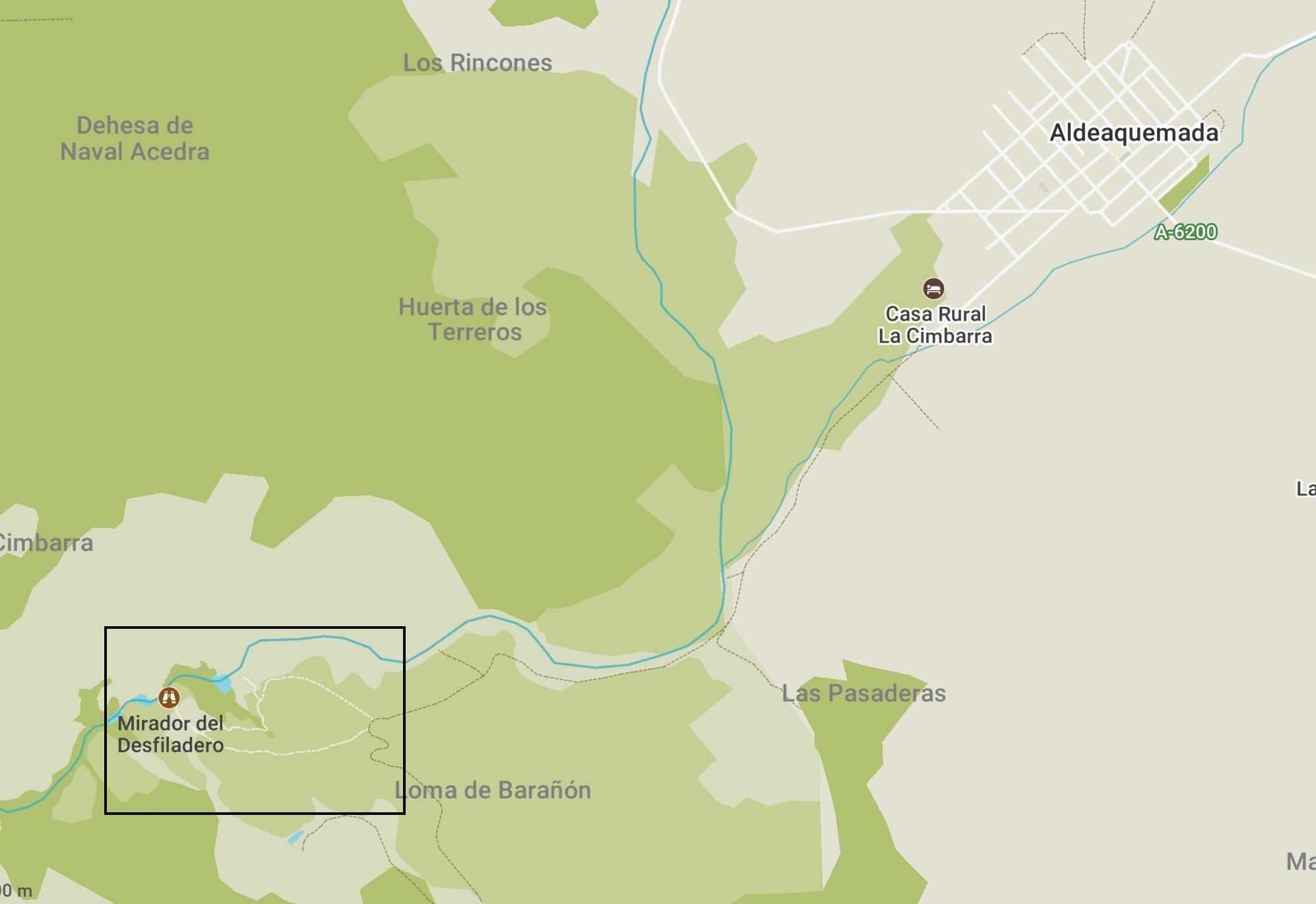 Cimbarra waterfall walk map