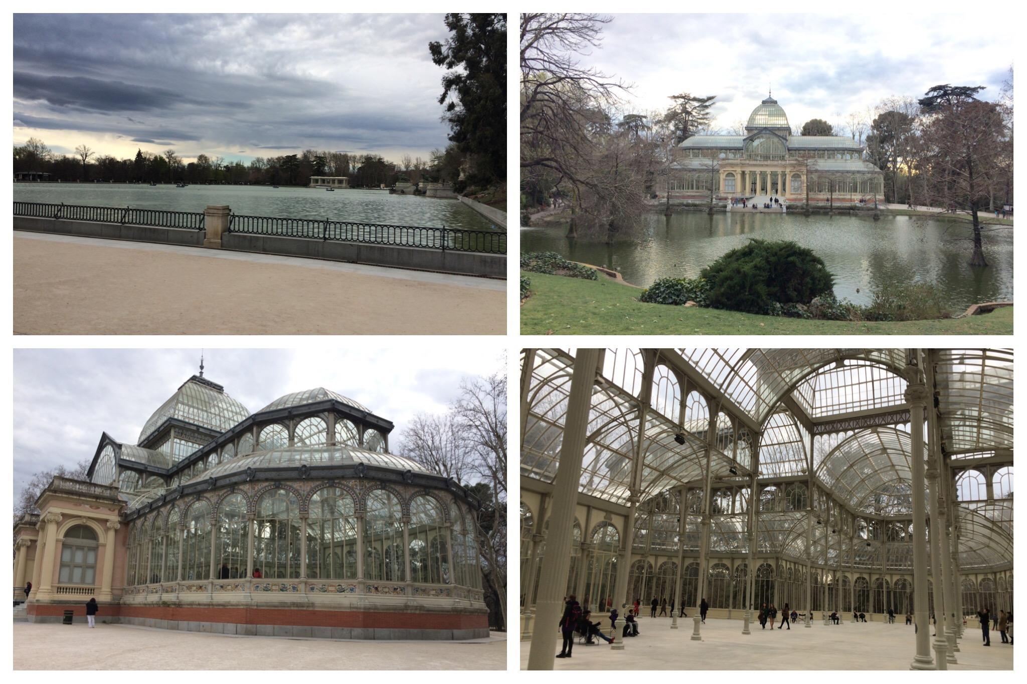 Madrid El Retiro Park Lake Palacio de Cristal
