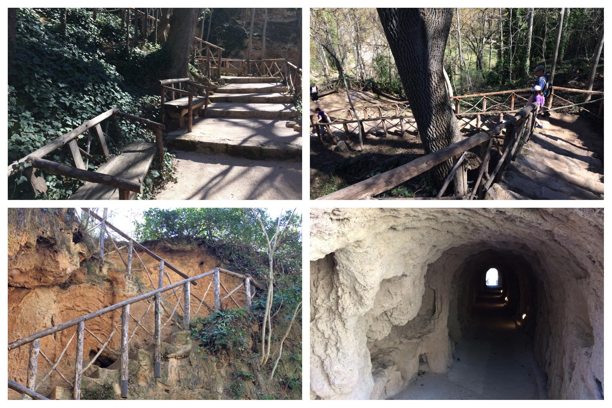 Monasterio de Piedra paths steps tunnels