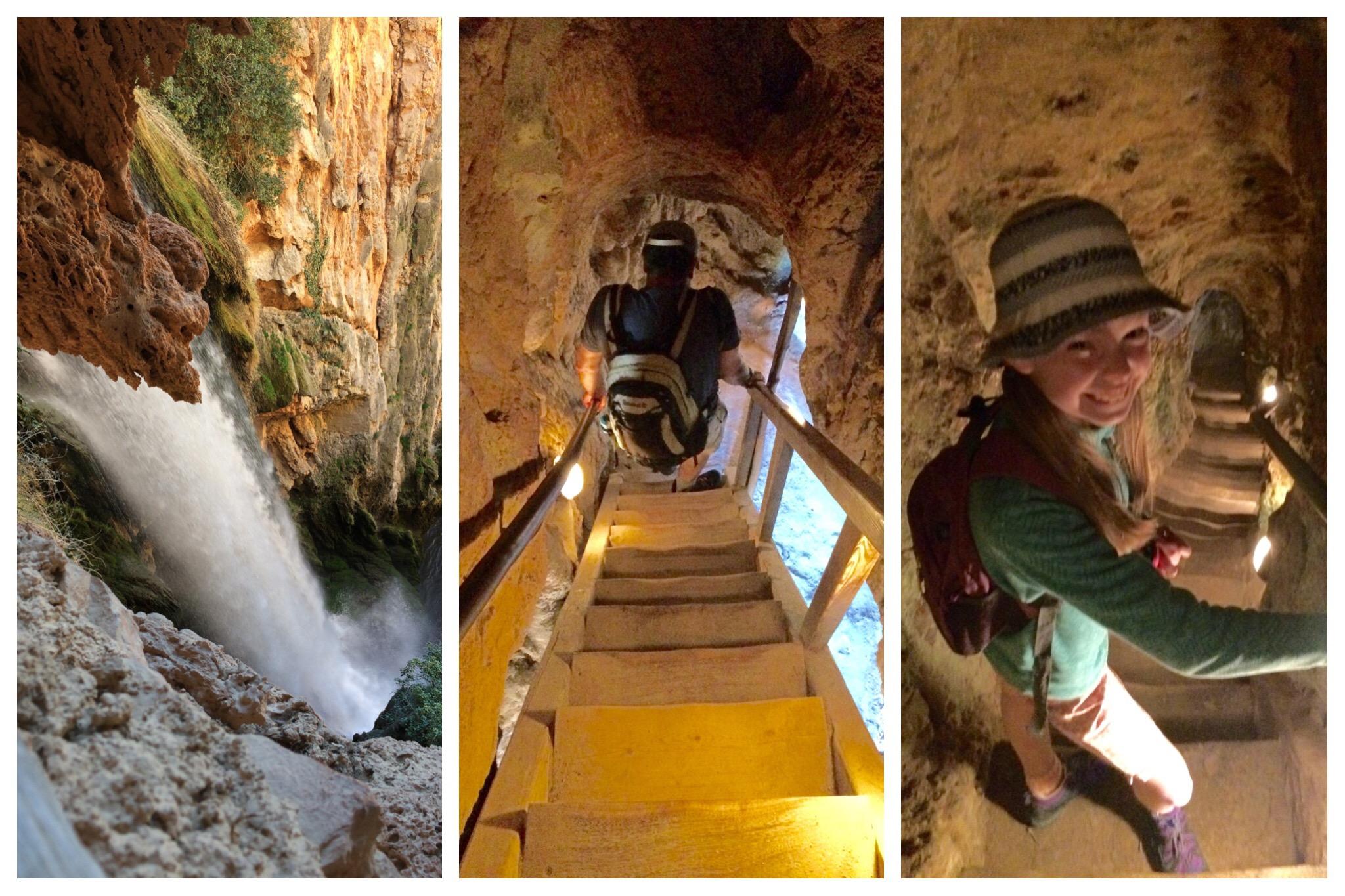 Monasterio de Piedra Descending into the Iris cavern