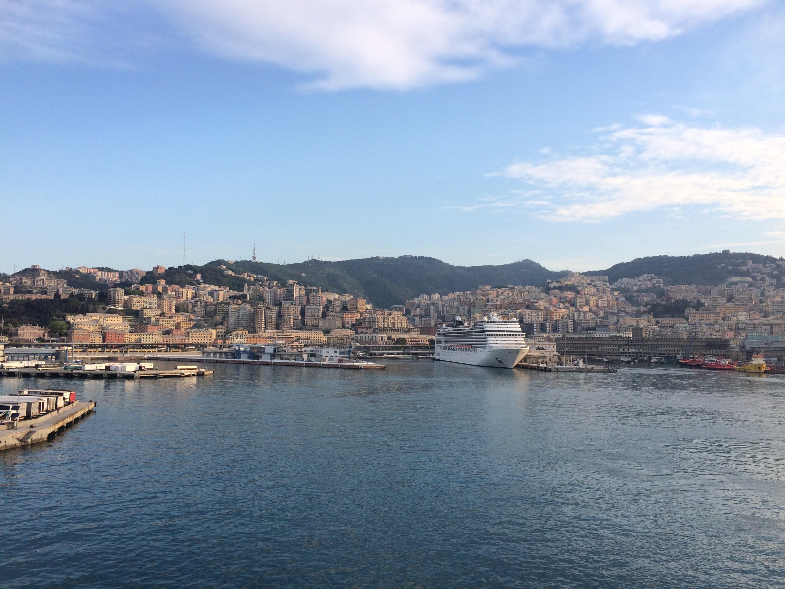 GNV ferry Barcelona to Genoa Arriving in Genoa