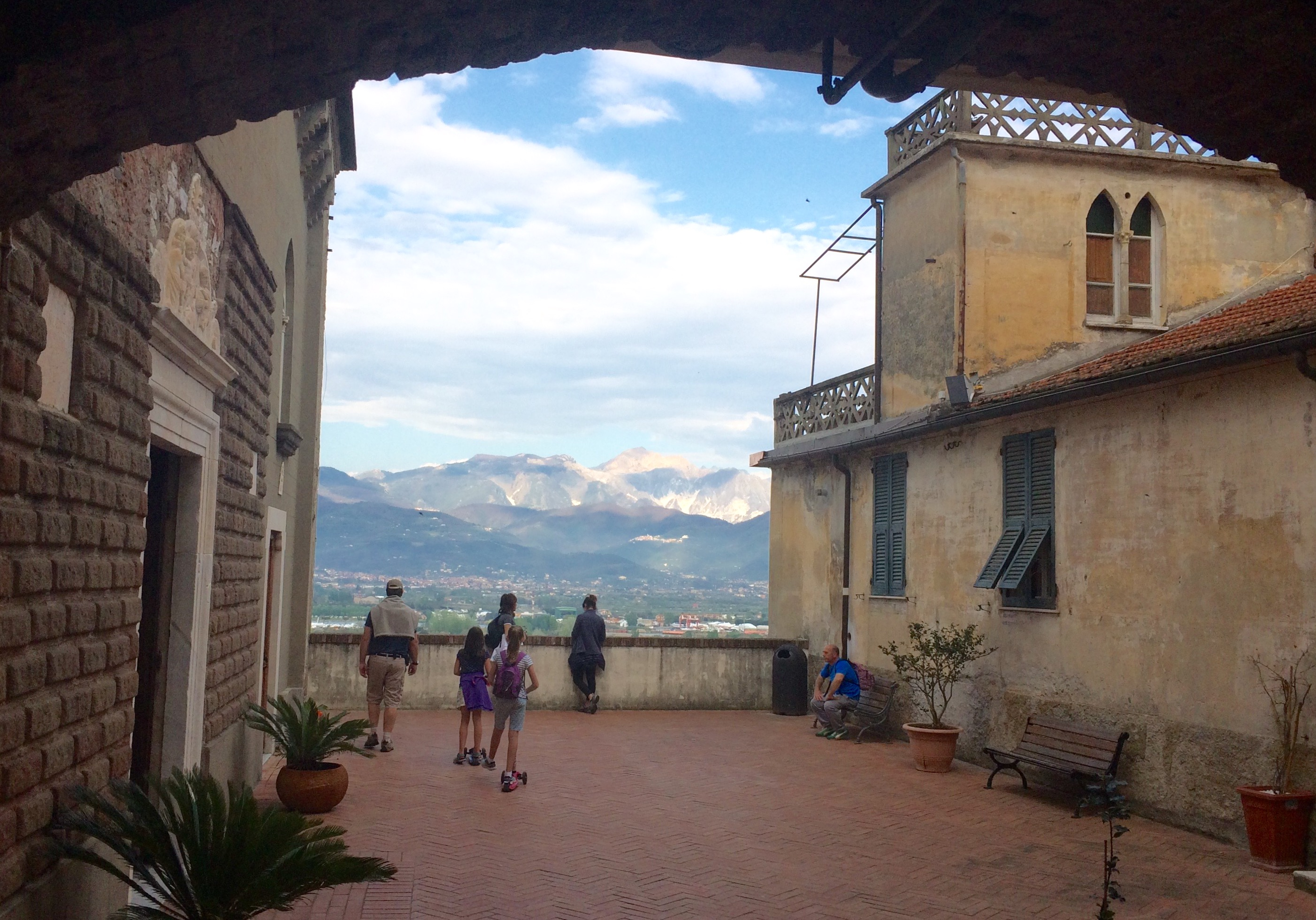 Liguria - view of Apuan Alps from Ameglia old town