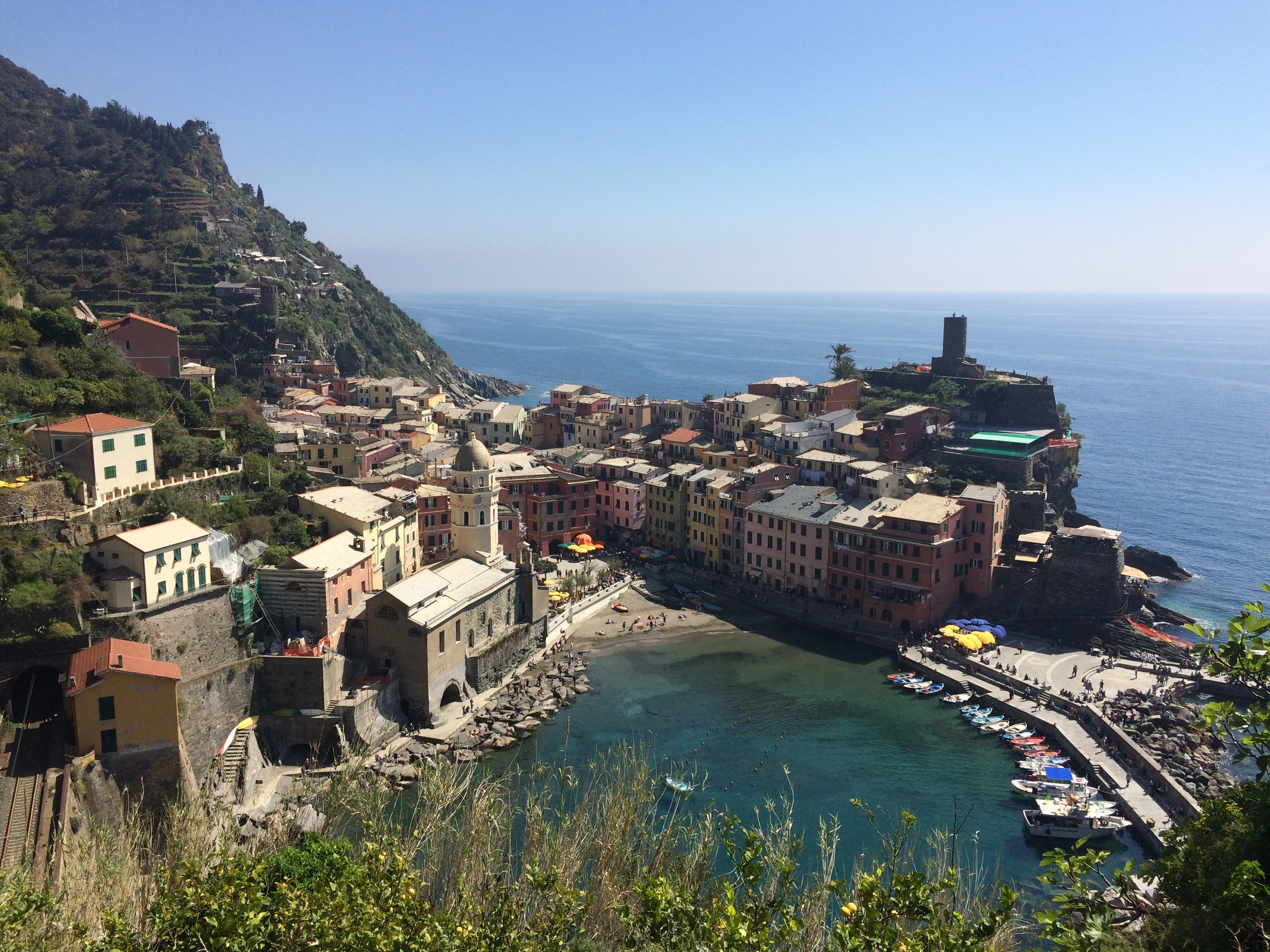 Cinque Terre - Vernazza viewed from the path to Monterosso