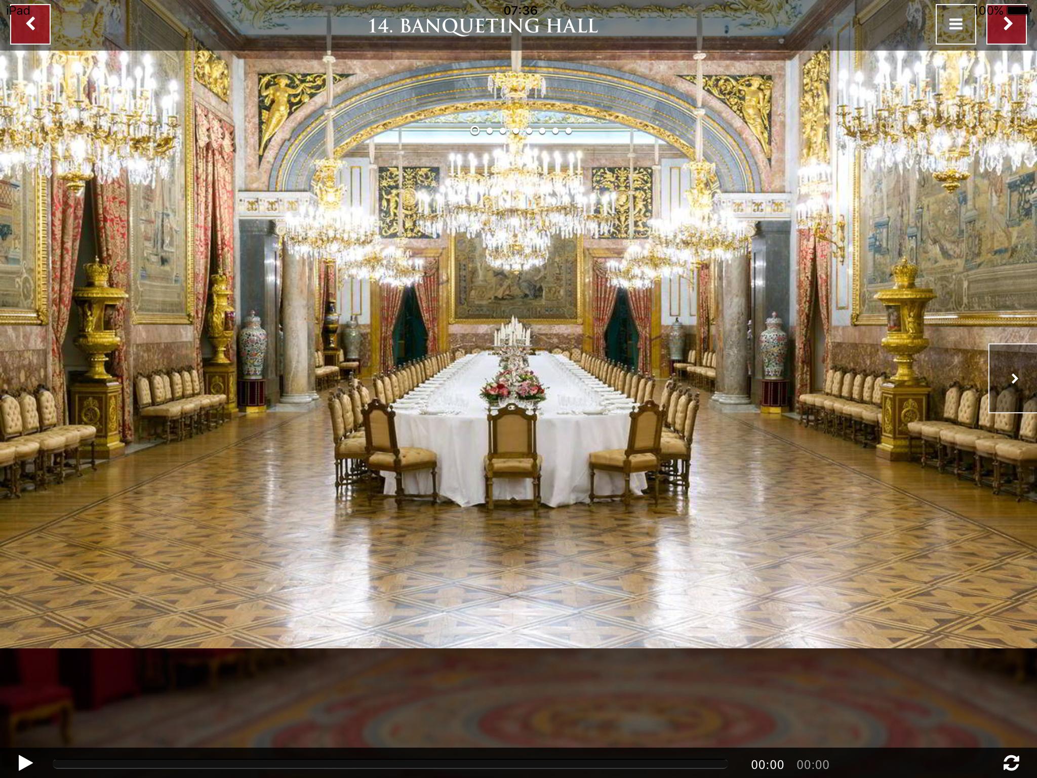 Madrid Royal Palace Banqueting Hall