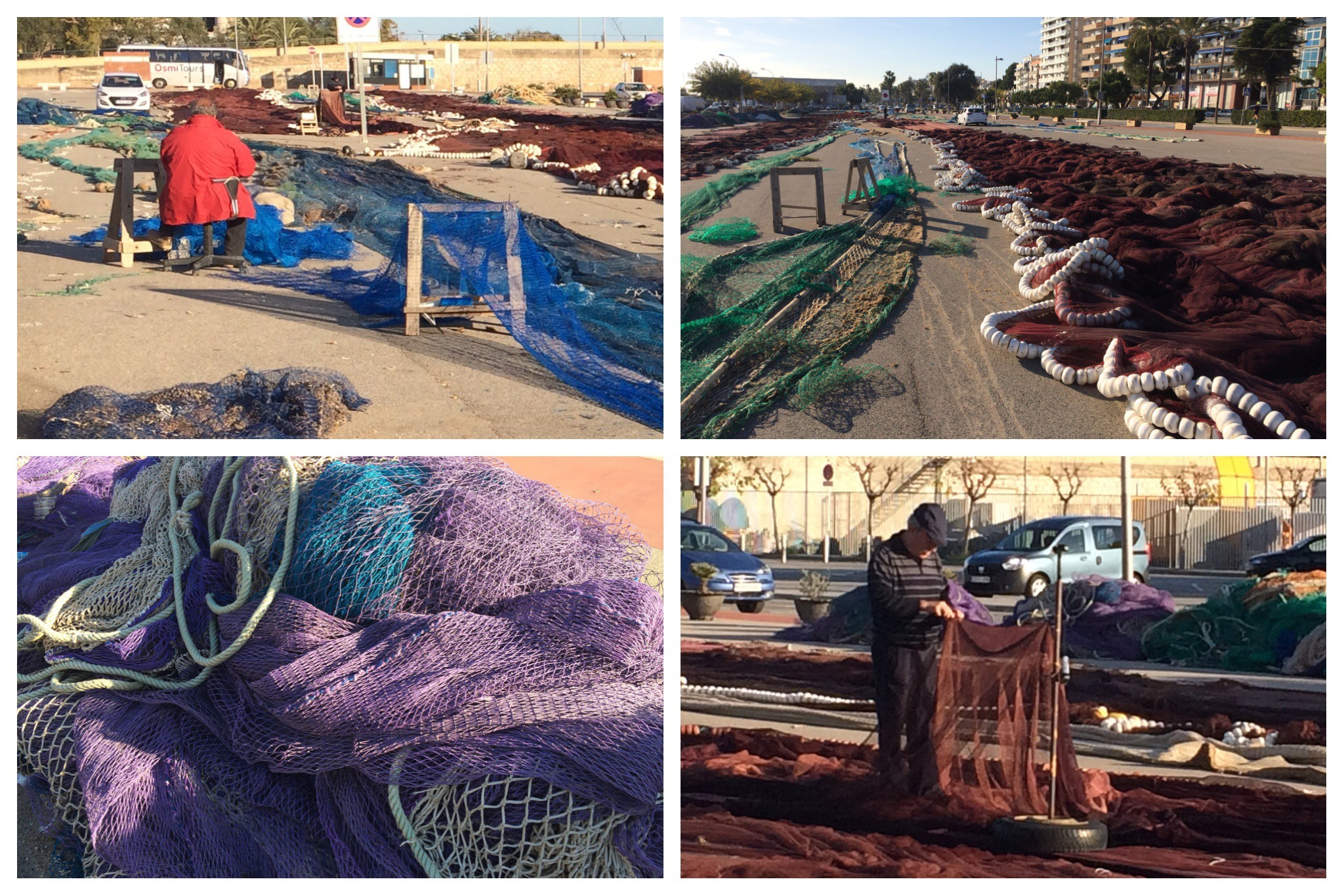 Vilanova i la Geltrú Mending Fishing Nets Port
