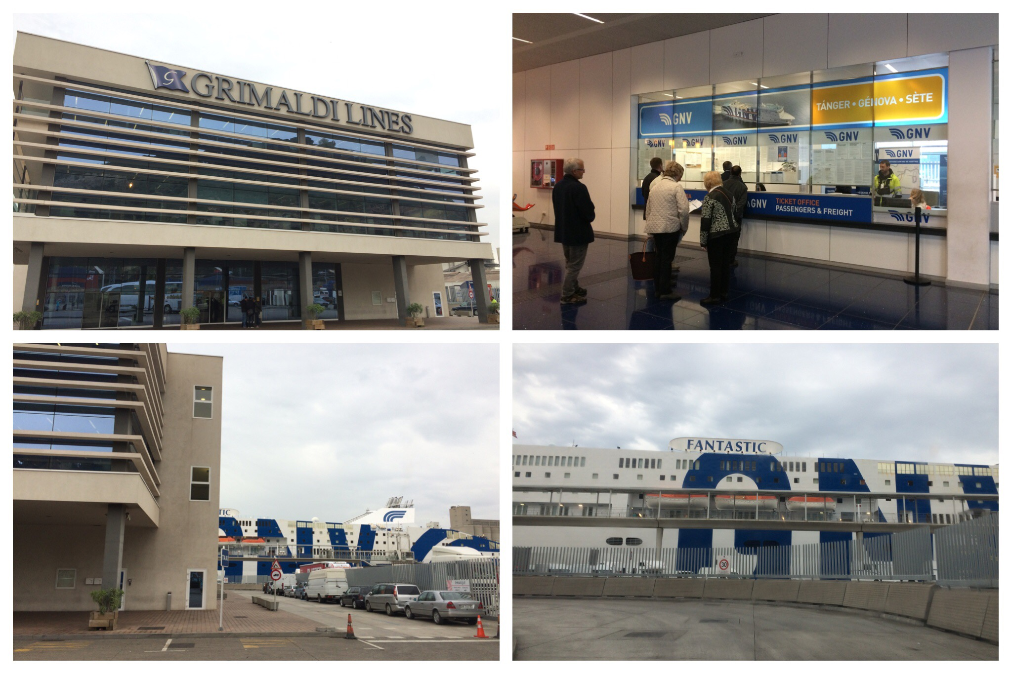 GNV ferry Barcelona to Genoa terminal building