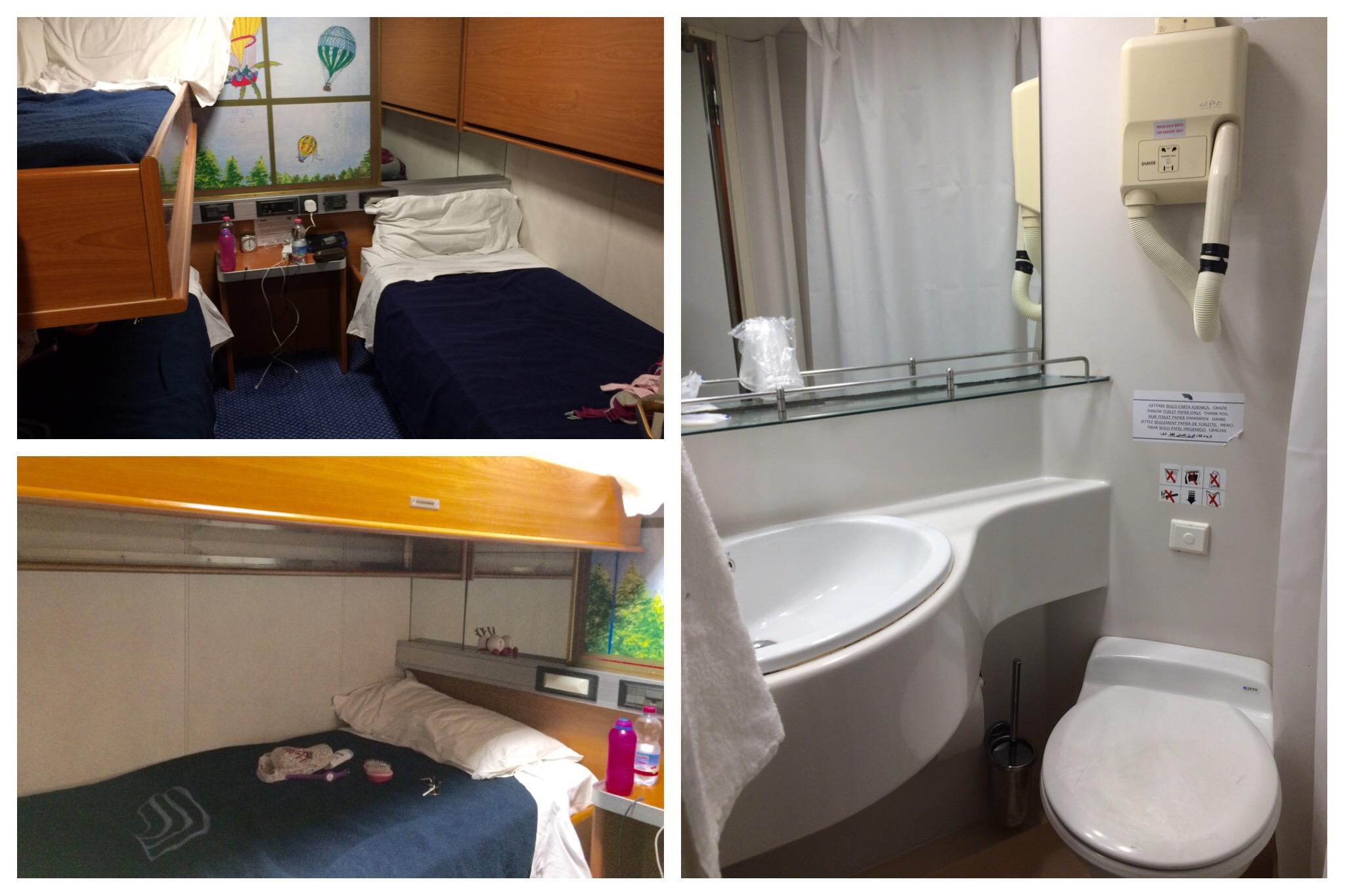 GNV ferry Barcelona to Genoa interior inside cabin