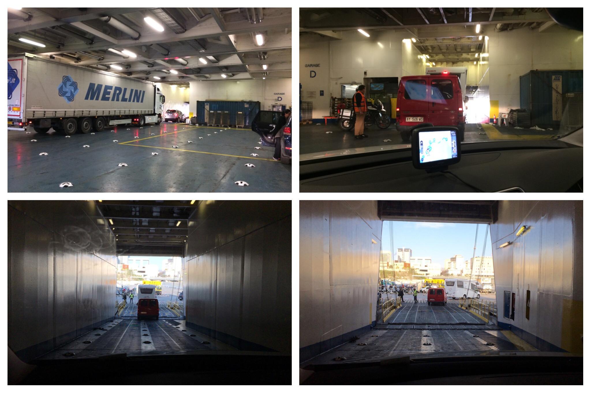 GNV ferry Barcelona to Genoa disembarking